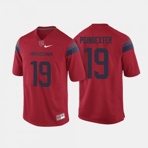 #19 Shawn Poindexter Arizona Wildcats College Football For Men Jersey - Red