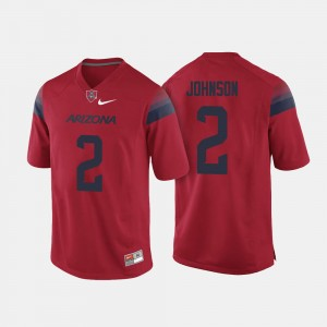 #2 Tyrell Johnson Arizona Wildcats College Football For Men's Jersey - Red