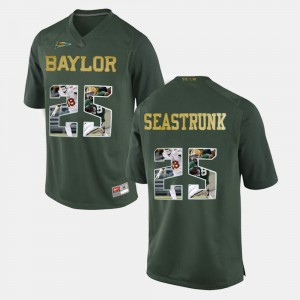 #25 Lache Seastrunk Baylor Bears Player Pictorial For Men's Jersey - Green