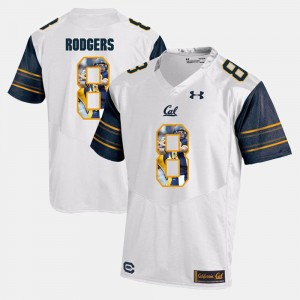 #8 Aaron Rodgers California Golden Bears Player Pictorial Mens Jersey - White