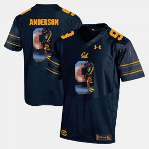 #9 C.J. Anderson California Golden Bears Player Pictorial For Men Jersey - Navy Blue