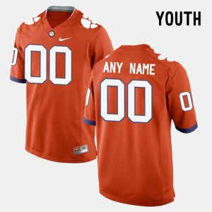 #00 Clemson Tigers College Limited Football For Kids Customized Jerseys - Orange