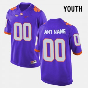 #00 Clemson Tigers College Limited Football For Kids Custom Jersey - Purple