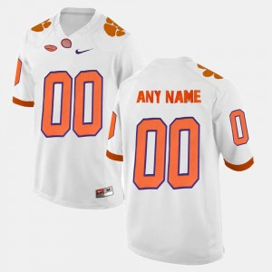 #00 Clemson Tigers For Men College Limited Football Custom Jerseys - White