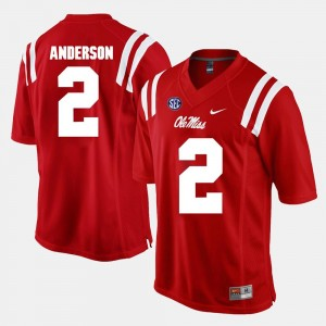 #2 Deontay Anderson Ole Miss Rebels Men Alumni Football Game Jersey - Red