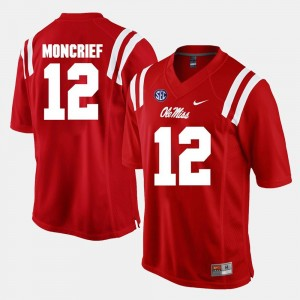 #12 Donte Moncrief Ole Miss Rebels Men's Alumni Football Game Jersey - Red