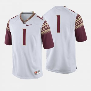 #1 Florida State Seminoles For Men College Football Jersey - White