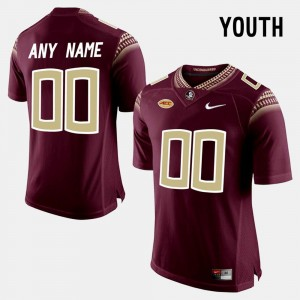 #00 Florida State Seminoles College Limited Football Kids Customized Jersey - Red