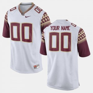 #00 Florida State Seminoles For Men College Limited Football Custom Jersey - White