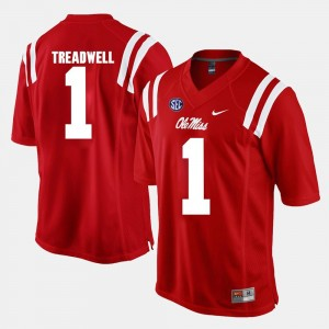 #1 Laquon Treadwell Ole Miss Rebels For Men's Alumni Football Game Jersey - Red