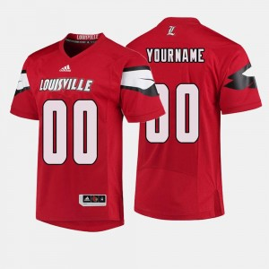 #00 Louisville Cardinals College Football Mens Customized Jersey - Red
