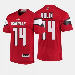 #14 Kyle Bolin Louisville Cardinals College Football For Men's Jersey - Red