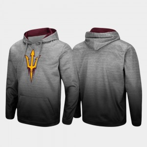 Arizona State Sun Devils For Men Sitwell Sublimated Pullover Hoodie - Heathered Gray
