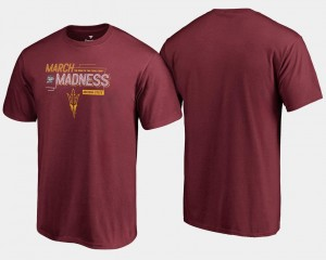 Arizona State Sun Devils Basketball Tournament 2018 March Madness Bound Airball For Men T-Shirt - Maroon