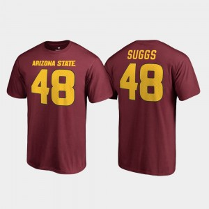 #48 Terrell Suggs Arizona State Sun Devils Men's College Legends Name & Number T-Shirt - Maroon