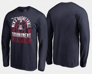 Arizona Wildcats For Men Basketball Conference Tournament 2018 Pac-12 Champions Long Sleeve T-Shirt - Navy