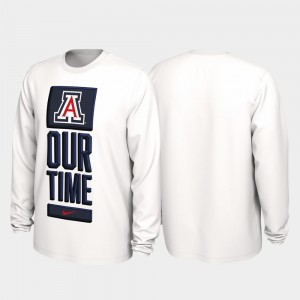 Arizona Wildcats Our Time Bench Legend 2020 March Madness For Men T-Shirt - White