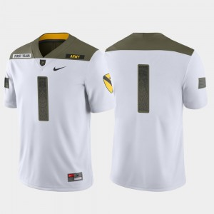 #1 Army Black Knights Limited Edition 1st Cavalry Division Men Jersey - White