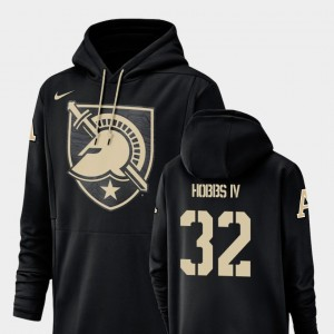 #32 Artice Hobbs IV Army Black Knights Football Performance Champ Drive For Men's Hoodie - Black