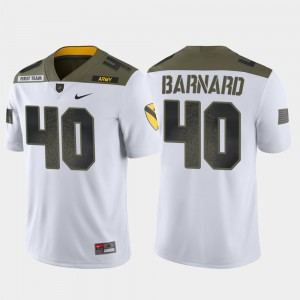 #40 Cade Barnard Army Black Knights 1st Cavalry Division Men's Limited Edition Jersey - White