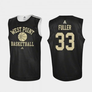 #33 Cam Fuller Army Black Knights Men's College Basketball Practice Jersey - Black