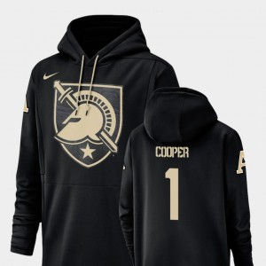 #1 Fred Cooper Army Black Knights Champ Drive For Men's Football Performance Hoodie - Black