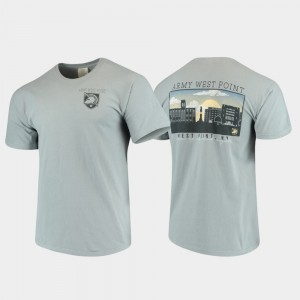 Army Black Knights Campus Scenery For Men's Comfort Colors T-Shirt - Gray
