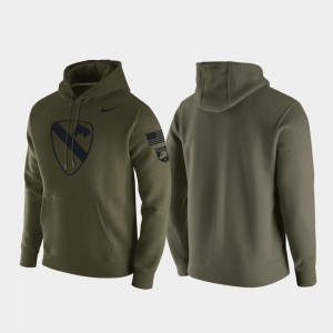 Army Black Knights Mens 1st Cavalry Division Hoodie - Green