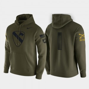 #1 Army Black Knights Men's 1st Cavalry Division Pullover Hoodie - Green