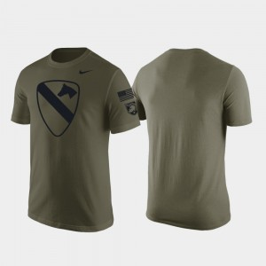 Army Black Knights Men's 1st Cavalry Division T-Shirt - Green