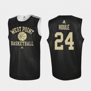 #24 Jason Houle Army Black Knights Practice College Basketball Men's Jersey - Black