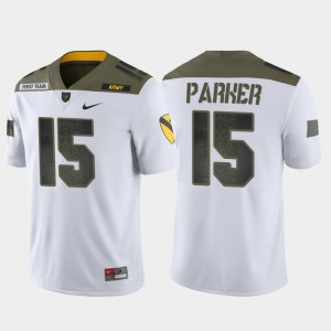 #15 Ryan Parker Army Black Knights Men's 1st Cavalry Division Limited Edition Jersey - White