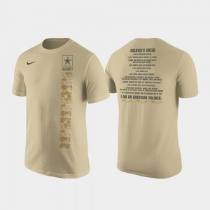 Army Black Knights Cotton Military Creed For Men T-Shirt - Tan
