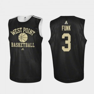 #3 Tommy Funk Army Black Knights Practice Mens College Basketball Jersey - Black