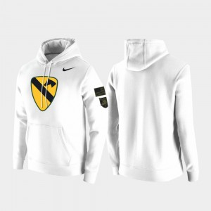 Army Black Knights 1st Cavalry Division For Men Hoodie - White
