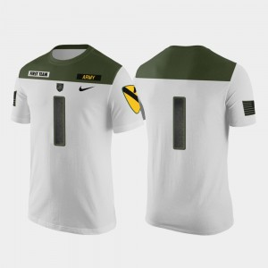 #1 Army Black Knights For Men Replica Jersey 1st Cavalry Division T-Shirt - White