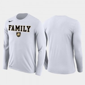 Army Black Knights Family on Court March Madness Basketball Performance Long Sleeve For Men T-Shirt - White