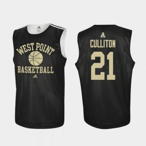 #21 Will Culliton Army Black Knights Mens Practice College Basketball Jersey - Black