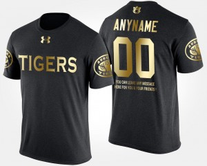 #00 Auburn Tigers Short Sleeve With Message Gold Limited For Men's Customized T-Shirt - Black