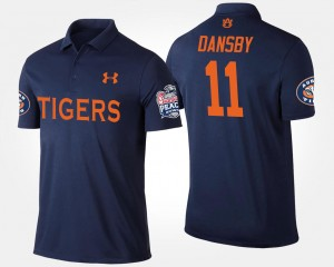 #11 Karlos Dansby Auburn Tigers For Men's Bowl Game Peach Bowl Polo - Navy