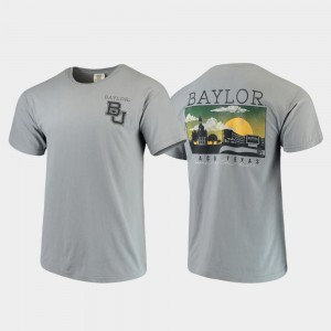 Baylor Bears For Men's Comfort Colors Campus Scenery T-Shirt - Gray