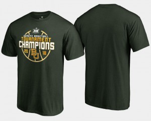 Baylor Bears For Men's 2018 Big 12 Champions Basketball Conference Tournament T-Shirt - Green