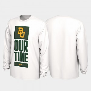 Baylor Bears 2020 March Madness Our Time Bench Legend For Men T-Shirt - White