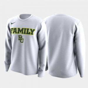 Baylor Bears Family on Court March Madness Legend Basketball Long Sleeve Men's T-Shirt - White
