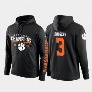#3 Amari Rodgers Clemson Tigers College Football Pullover 2018 National Champions Men's Hoodie - Black