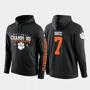#7 Chase Brice Clemson Tigers Mens 2018 National Champions College Football Pullover Hoodie - Black