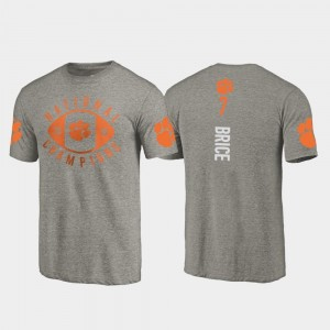 #7 Chase Brice Clemson Tigers Men College Football Playoff 2018 National Champions T-Shirt - Gray