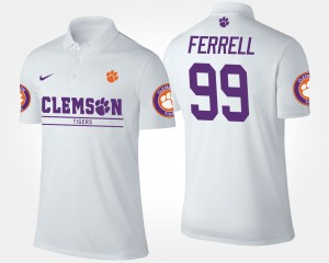 #99 Clelin Ferrell Clemson Tigers For Men Polo - White