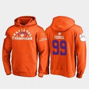 #99 Clelin Ferrell Clemson Tigers College Football Playoff Pylon 2018 National Champions For Men's Hoodie - Orange