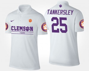 #25 Cordrea Tankersley Clemson Tigers For Men Polo - White